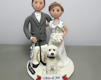 DEPOSIT for a Customized Hockey player Wedding Cake Topper figurine Decoration