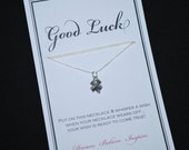 Good Luck Clover Wish Necklace - Buy 3 Items, Get 1 Free