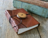 "Leather Journal . Charles Dickens ""David Copperfield"" quote . handbound handmade . copper brown (320 pgs)"