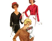 Vintage 60s Jacket Mod jacket sewing pattern McCalls 5791 Bust 36 Jackie O style
