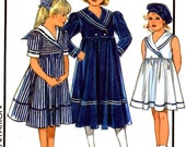 Nautical sailor dress pattern Flowergirl or party Sailor dresses Style 1260 sewing pattern Sz 4