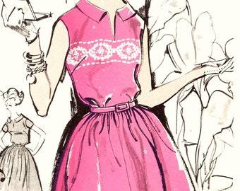 Summer Rockabilly dress vintage sewing pattern Advance 2831 Bust 36 Retro 60s summer style