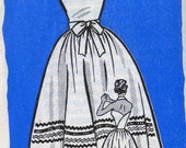 50s Vintage Sewing pattern Mail Order Pattern 9048 HALTER Neck Sundress Size14 Bust 34