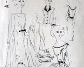 1950s Sheath Dress SPADEA A-3050 Personalized Pattern The Patti Page Quartet w/ Filmy Trapeze Rare Vintage Sewing Pattern Size 10 Bust 34