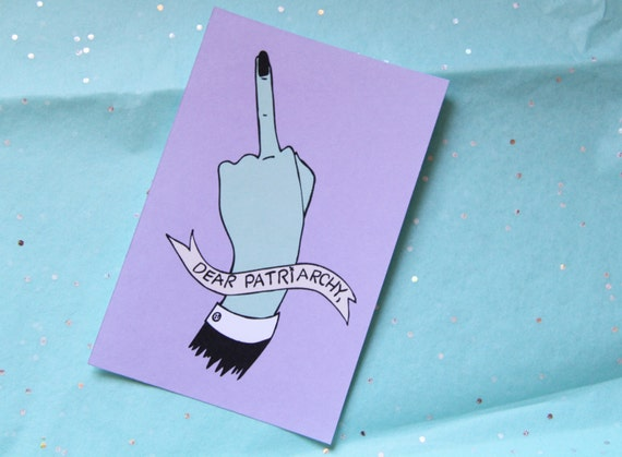 F-Off, Patriarchy Sticker in Purple Matte Finish