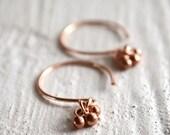Rose gold earrings, rose gold ball earrings, rose gold jewelry, tiny gold earrings, delicate earrings - Paka Ua Pink