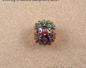 Reserved for Virginia - EVOLVING - Studded Opal Gold Focal - Lampwork Glass Beads by Shani Barrett SRA