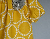 dress - yellow mustard Fall Thanksgiving dots grey gray silver baby toddler photoshoot wedding 0-3 , 3-6 6-12 -12-18 18-24  2t 3t 4t 5t 6 7