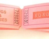 Hugs and Kisses XOXO Raffle Tickets - Set of 12 Carnival Tickets