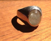 tourmaline quartz and sterling silver ring