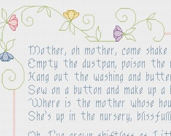 Babies Don't Keep cross stitch pattern PDF - INSTANT DOWNLOAD