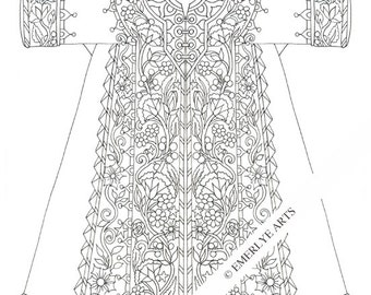 Printable Coloring Page - Medieval Shift