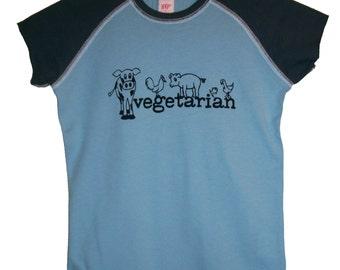 5 DOLLAR SALE: Vegetarian Animals Hyp Shirt (Girls sz. 7/8, 10/12, 14/16)