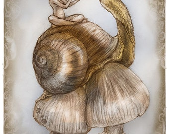 Snails Song, Greeting Card by Renae Taylor