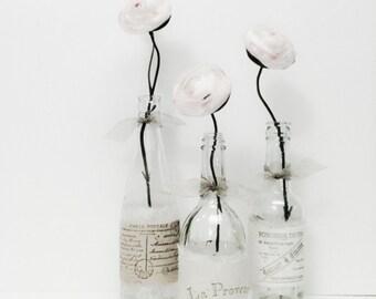 Wedding Vase, Wedding Reception Decor, Baby Shower, Rustic Wedding, Wine Bottle Vase, Bridal Shower, Tall Glass Bottle, Paris Bedroon Decor