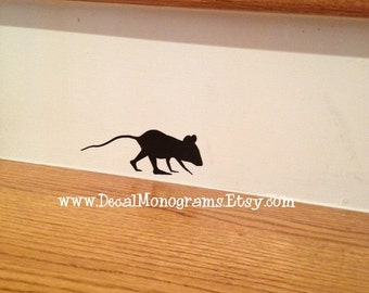 Mouse Sniffing Around Vinyl Wall Decal