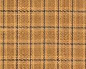 Homespun Fabric Khaki And Black Small Plaid 1 Yard