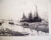 Antique 1893 World's Columbian Exposition H.W. Mesdag Engraving - copywrited by George Barrie