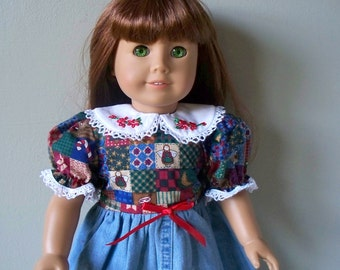 American Girl Doll Clothes Casual Christmas Dress // Fits 18 inch or 20 inch doll