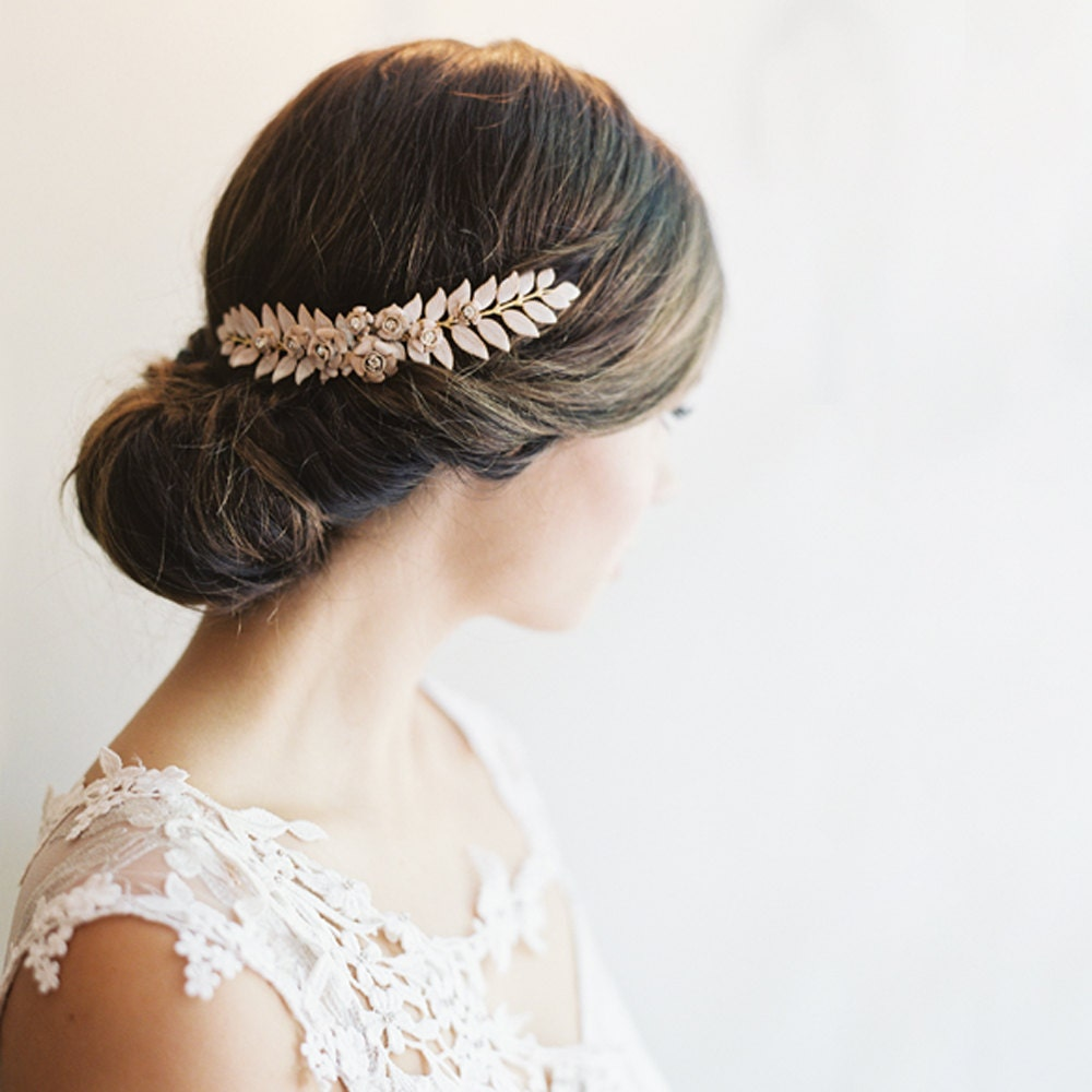 wedding hair accessory grecian hair piece bridal clip