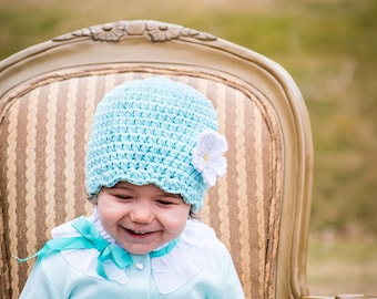 30 Colors Baby Girl Hat 9 to 12 Month Baby Hat Crochet Flower Hat Flapper Beanie Baby Flapper Hat Easter Hat Spring Hat Baby Girl Clothes