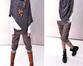 Snow Kingdom - cool shaped knits poncho (P3102)