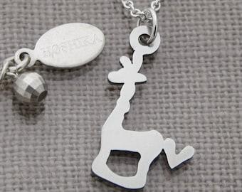 Mini Giraffe with Heart Necklace