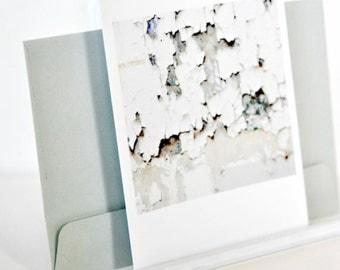 White Peeling Paint Photo Art Card |  Urban Rustic Distressed Theme | Wabisabi Theme Cards