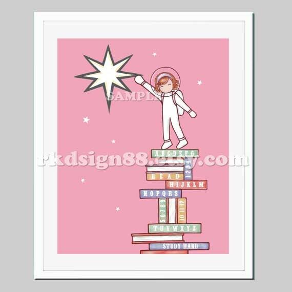 Ti Design Wall Art : Kids wall art baby girl nursery decor girls room