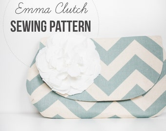 DIY Sewing Pattern & Tutorial INSTANT DOWNLOAD: Emma Clutch