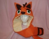 CRASH BANDICOOT inspired Fleece SCOODIE Hat Scarf
