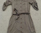 Classic Affinity ... sand buttoned Shirtdress M