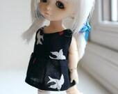 Lati Yellow Pukifee BJD Miu Miu style bird print dress