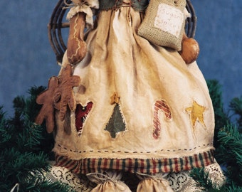 Cloth Doll E-Pattern - Holiday Gingerbread Doll Epattern