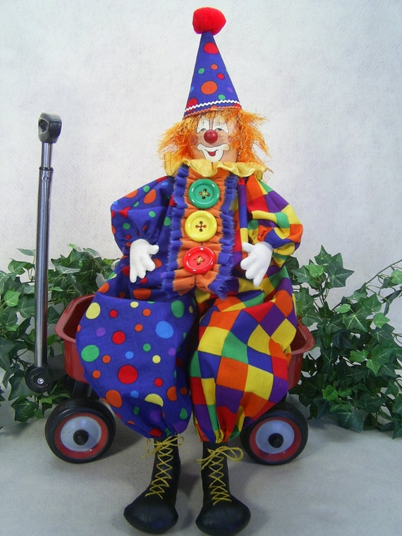 Cloth Doll E-Pattern - 24in Happy Clown Epattern