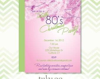 "HolidayRetro 80s Party Invitation - ""Radical"""