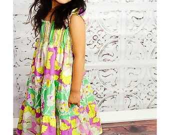 Easter Dress - Spring Dress - Girls Green Dress