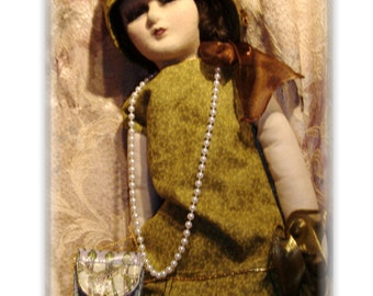 A Boudoir Doll In Green and Gold