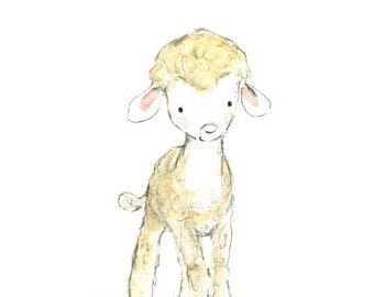"Children's Art -- ""LAMB"" -- Archival Print"