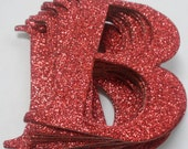"GLiTTER LETTERS - 2"" Elegant Chipboard Letter Die Cuts - Color Option"