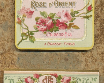 Antique Vintage French Apothecary Perfume Label 44