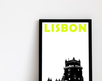 Lisbon Print (8x10) Lisbon Art Print Portugal Travel Print