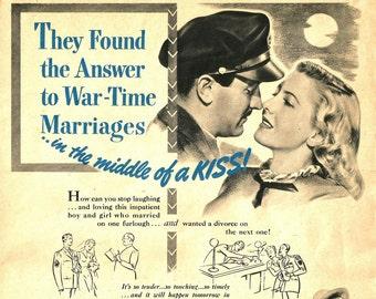 Vintage Magazine Movie Ad - Movie Star Print - 1944 The Impatient Years - Jean Arthur - Lee Bowman - Vintage Movie Advertisement Art - 1944