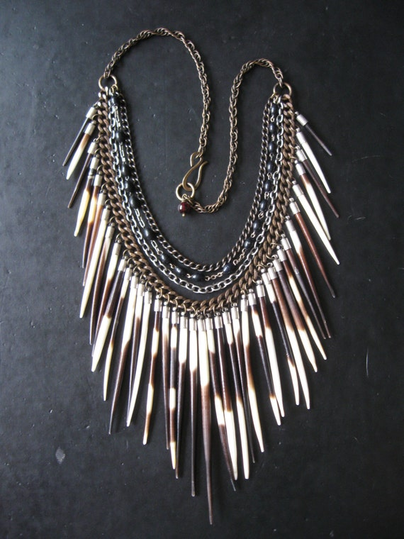 Porcupine Quill Jewelry Porcupine Quill Bib Ne...