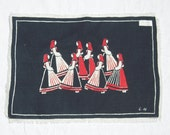 Vintage Liv Hassel Textile Scandinavian Girls at Harvest Time MWT