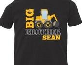 Big brother shirt construction truck DARK Tshirt