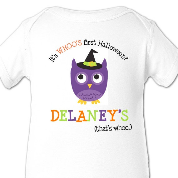 baby's first halloween bodysuit or t shirt adorable for halloween baby for a boy or a girl
