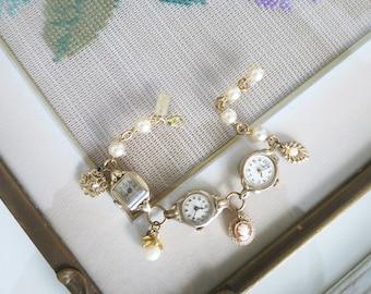 Vintage Watch Charm Bracelet