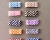 CUSTOM ORDER for JOSHRAMIREZ Candy shop tuxedo bow clippies, you pick 4