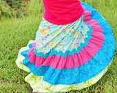Maxi Skirt for Little Girls with Lots of Twirl - pinkmouse